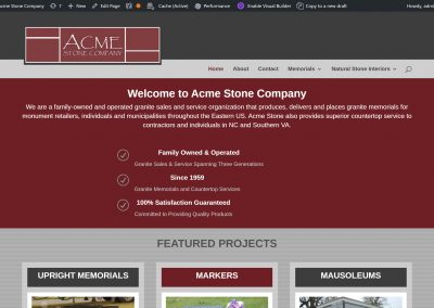 Acme Stone Company Of Mount Airy, NC