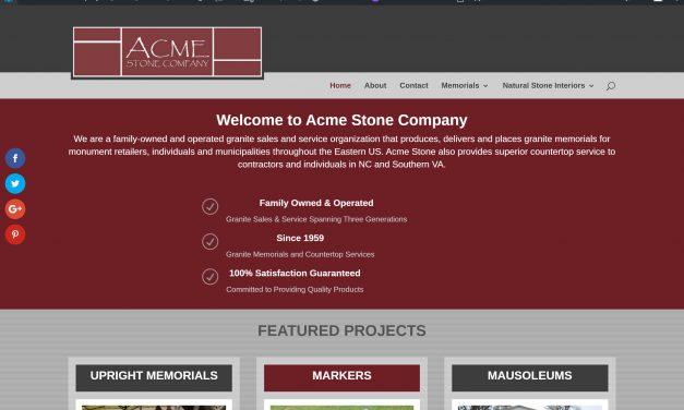 Acme Stone Company Of Mount Airy, NC