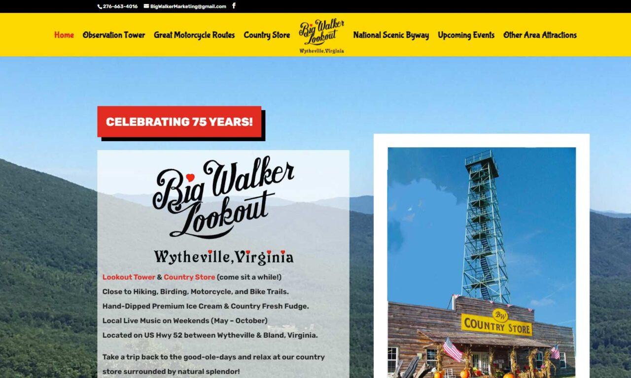 Big Walker Lookout in Wytheville, VA
